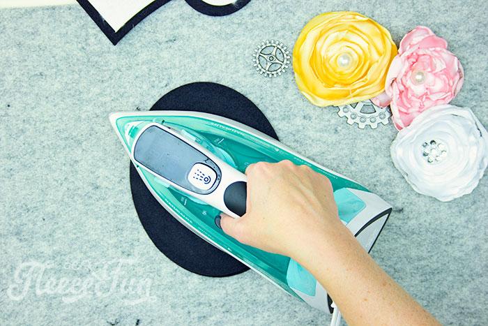 Ironing on stabilizer