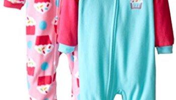 2a08fb92b Gerber Baby-Girls Newborn 2 Pack Blanket Sleepers