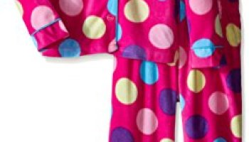 Komar Kids Big Girls  Micro Fleece 2 Piece Bright Dot Coat Set f5609d238