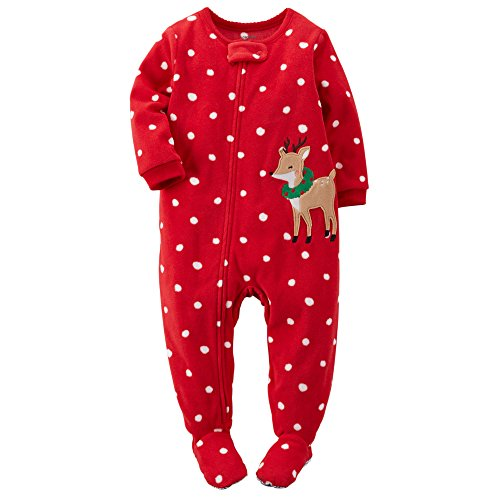 Carter S Baby Girls Holiday Microfleece 1 Piece Footed