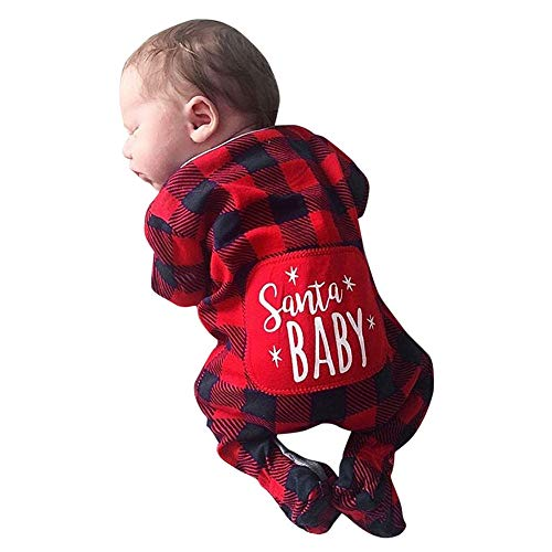 Gornorriss Baby Rompers Newborn Infant Long Sleeve Cartoon Christmas Knitted Jumpsuit Clothes