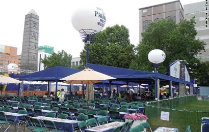 Beer Gardens at Odori Koen Park, Sapporo in 2014