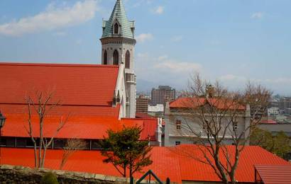 Motomachi Roman Catholic Church in Hakodate Motomachi Area