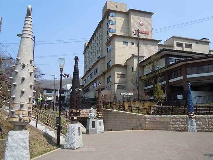 Geyser at Sengen Park, Noboribetsu Onsen