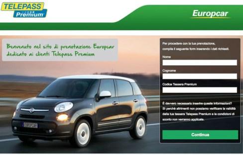 Telepass e Europcar