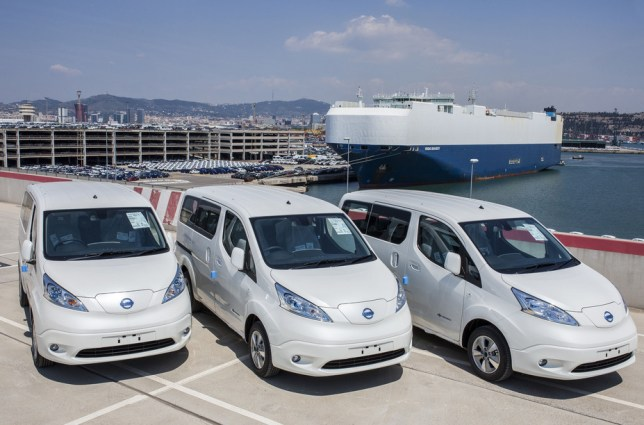 nuovo Nissan e-NV200 van 100% elettrico