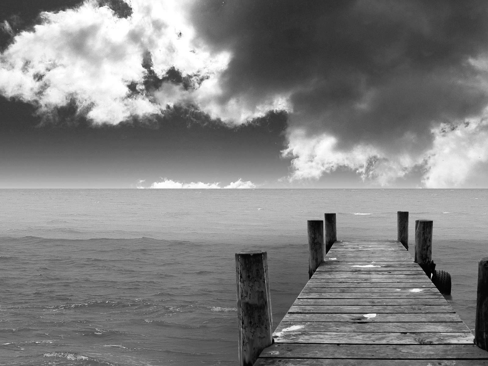 Black And White Beach Landscape Wallpaper Hd 12 Fleetinglife