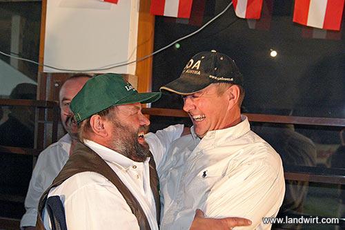 FIH-Fleischrinderzüchter Obmann Hans Harsch und Fred Zehetner (Foto: Landwirt.com)