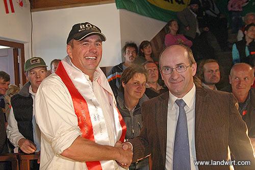 Fred Zehetner und ARGE-Obmann Ernst Vollnhofer (Foto: Landwirt.com)