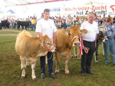 Bundessiegerin der Murbodner: Senta (V: Jaga) von Fam. Pink, Mürzzuschlag