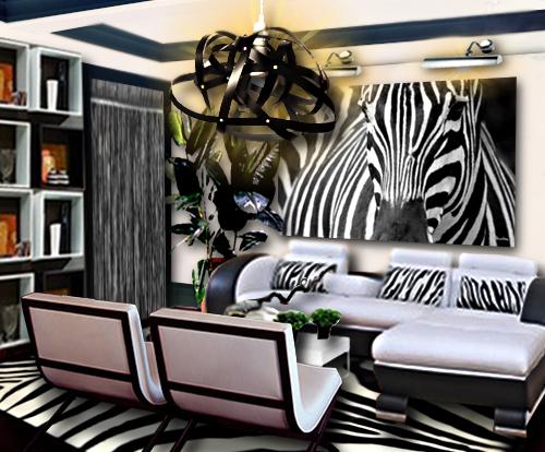 Un Salon Noir Et Blanc Inspiration Zbre Floriane Lemari