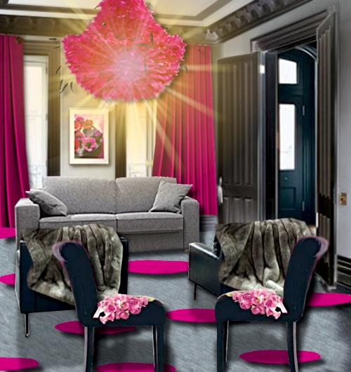 un salon rose et gris floriane lemarie
