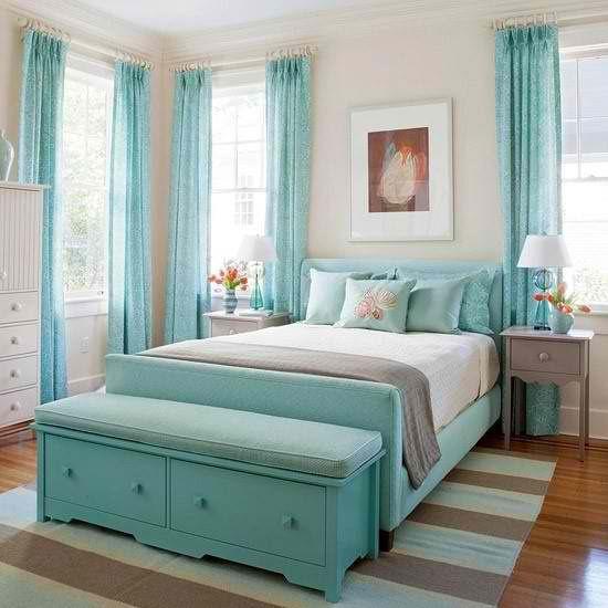 la deco en bleu turquoise floriane
