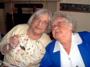 Ester and Mille after Ester moved to a nursing home