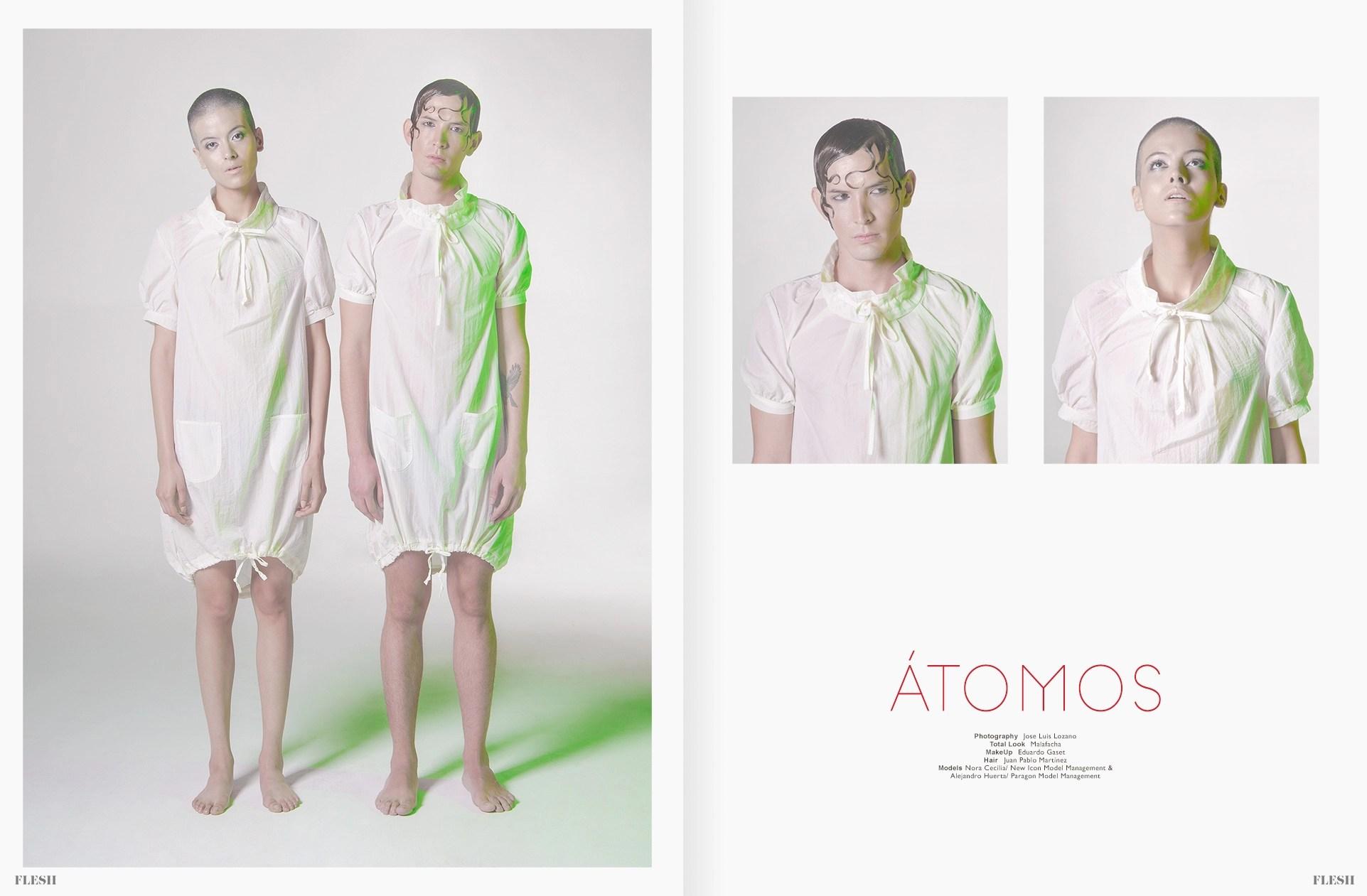 Atomos PHOTO Jose Luis Lozano, Total Look MALAFACHA, MakeUp Eduardo Gaset, Hair Juan Pablo Martinez
