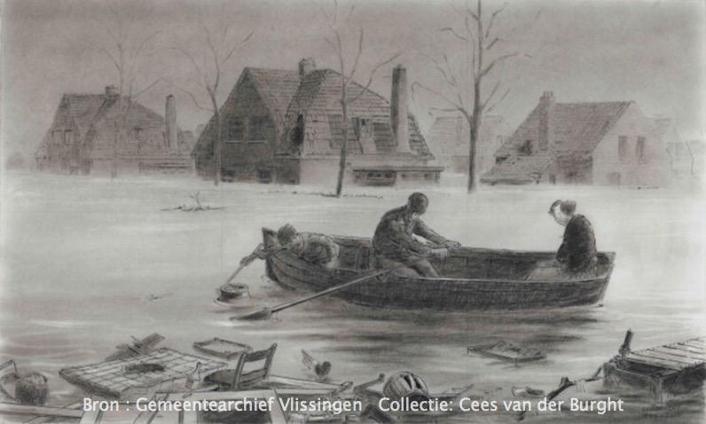 Stützpunt Vlissingen 1942      – Überflutung –
