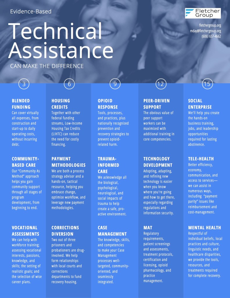 FLETCHER GROUP TECHNICAL ASSISTANCE FLYER GENERIC WITH FAMILY 1 PHOTO