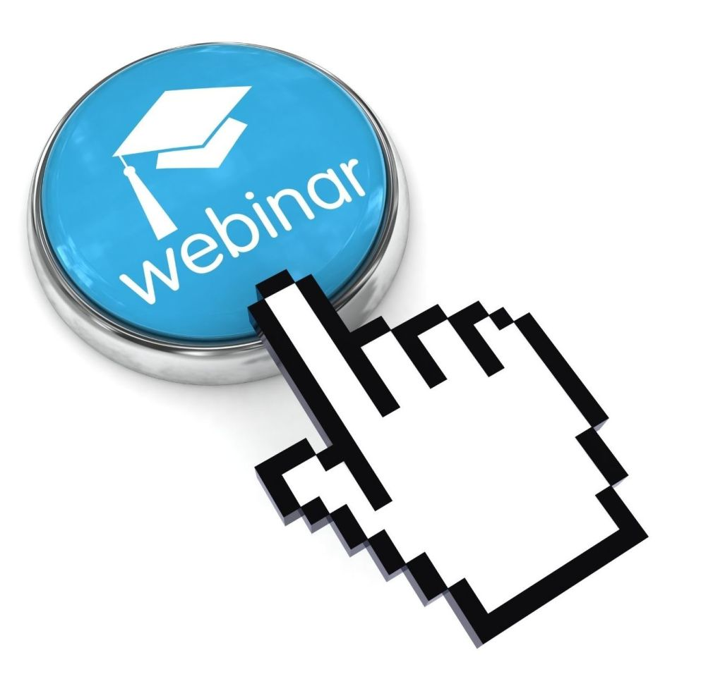 WEBINAR BUTTON WITH FINGER