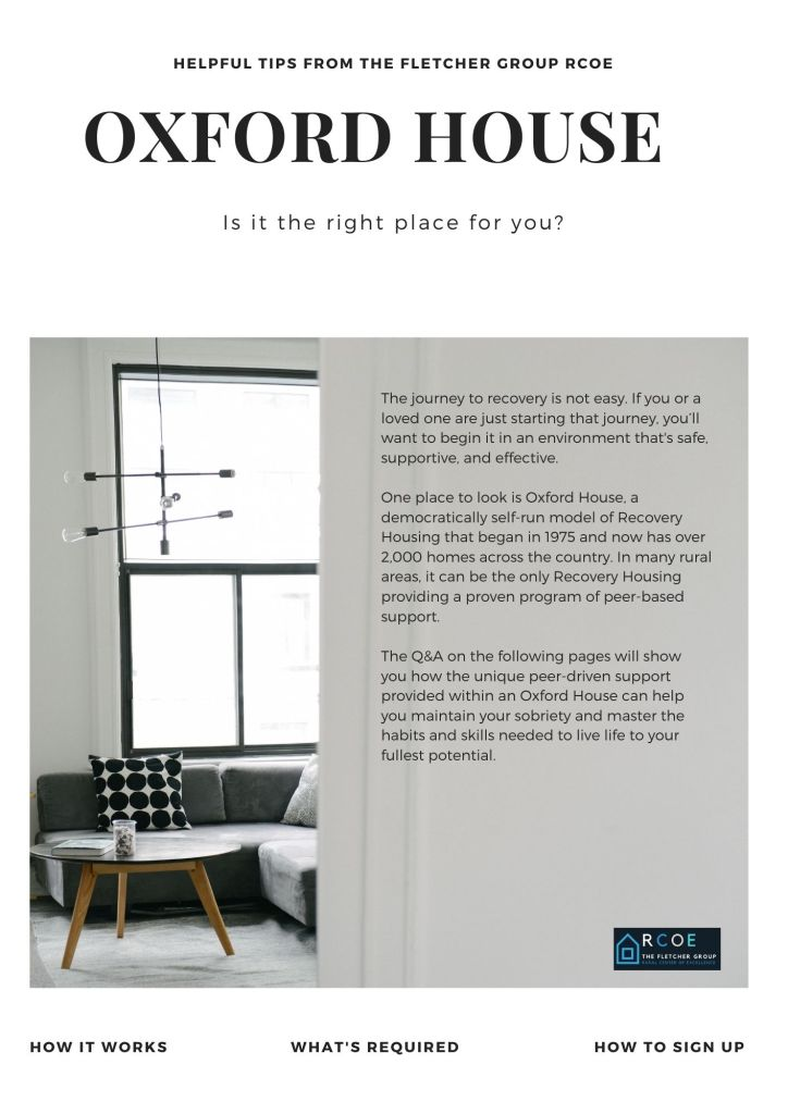 IS OXFORD HOUSE THE RIGHT PLACE FOR YOU 1ST PAGE