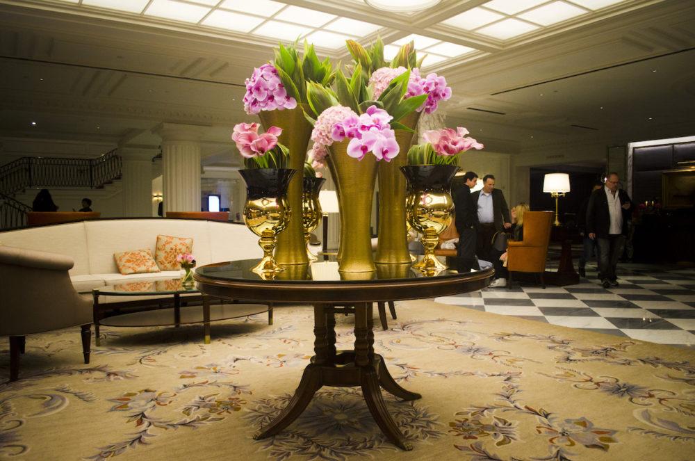 fleurdelilah rtw intercontinental barclay new york city lobby