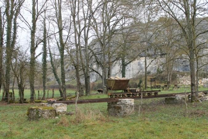 L'ancienne voie Decauville reconstituée