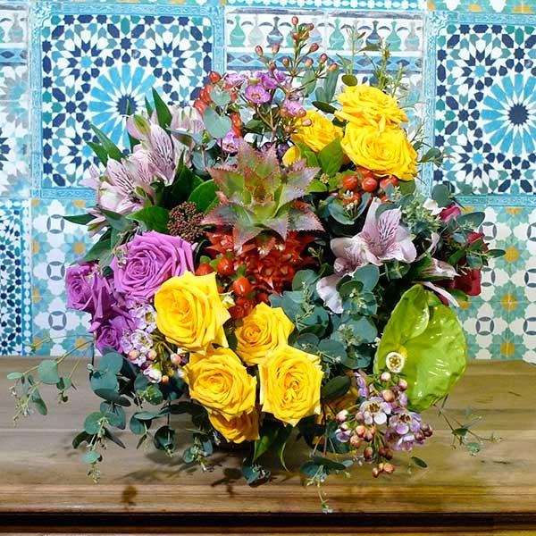 bouquet exotique ananas rose