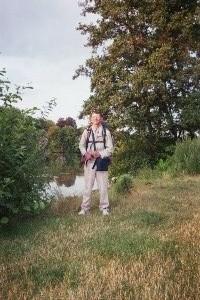 Patrick Huet Fleuve-trotteur à Evry au bord de la Seine