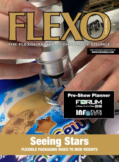 FLEXO Magazine February 2019 cover