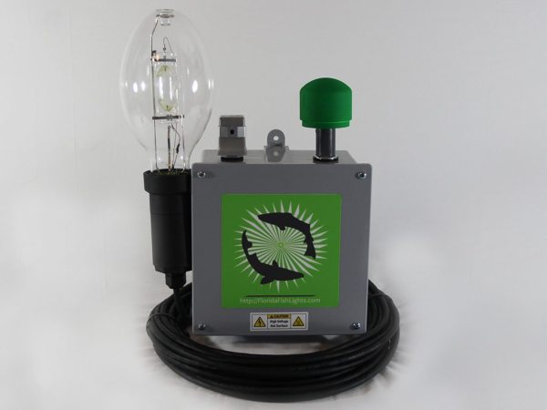 Single lamp 400 watt underwater dock and fish light system