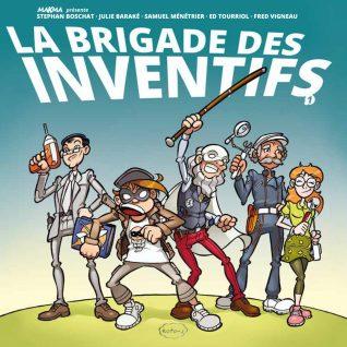 La Brigade des Inventifs, couverture originale (Dessin : Samuel Ménétrier) - Flibusk