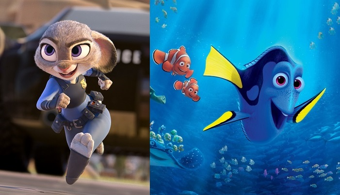 Image result for finding dory vs zootopia