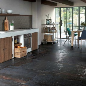 Metalloptik Küche