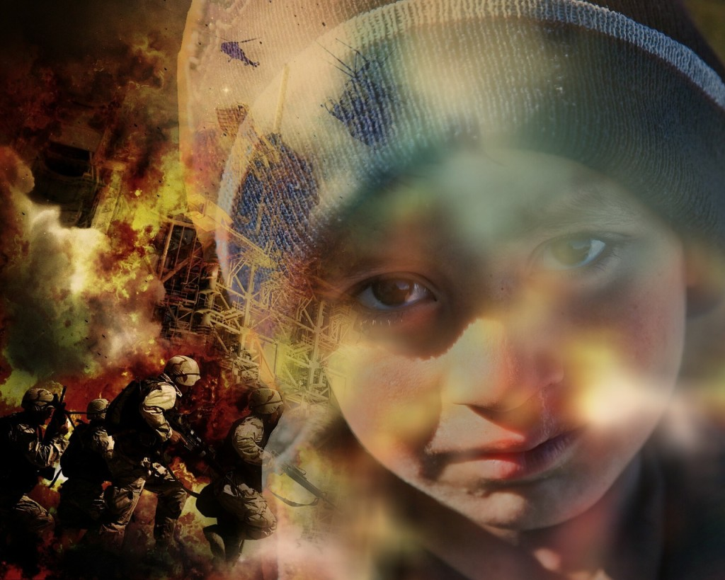 How do you feel about the Syrian crisis? Do you feel any more empathy towards the people of Syria, now that children's lives are a bigger focus in the media? | A Montage of Children of War | www.flightandscarlet.com