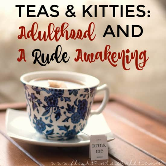 Have you ever had a rude awakening? Sometimes it's what's needed to remind us what is important. Join me for tea and let's catch up, kitty photos included!