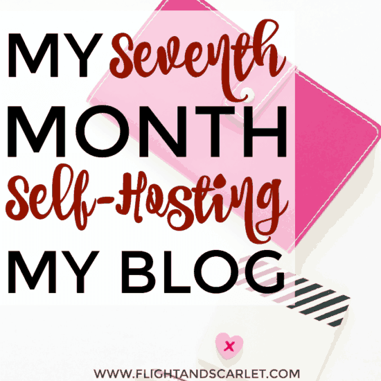 Interested in self-hosting your blog? This is a great overview of one blogger's seventh month blogging! Really cool to actually see what it's like!