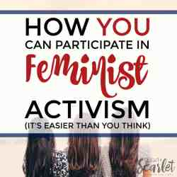 I'm so excited about this! Here's the perfect way you can participate in feminist activism — as a beginner! There's even a special surprise, check it out!