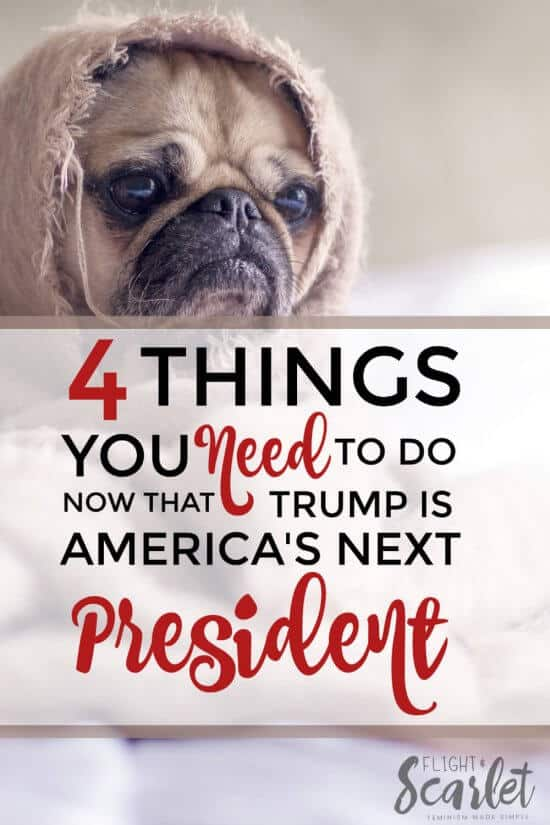 Wondering what to do now that Trump is America's next president? Here are 4 things to do now that Trump is America's next president. I love how encouraging and hopeful this list is — do make sure to check it out, no matter how much privilege you have!