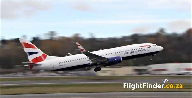 British Airways Comair Flight to Harare Boeing 737 Max 8