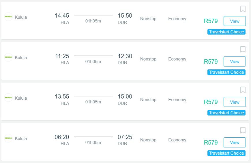 Kulula flights from johannesburg to durban