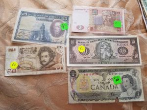 Foreign Currency from the market in Quito