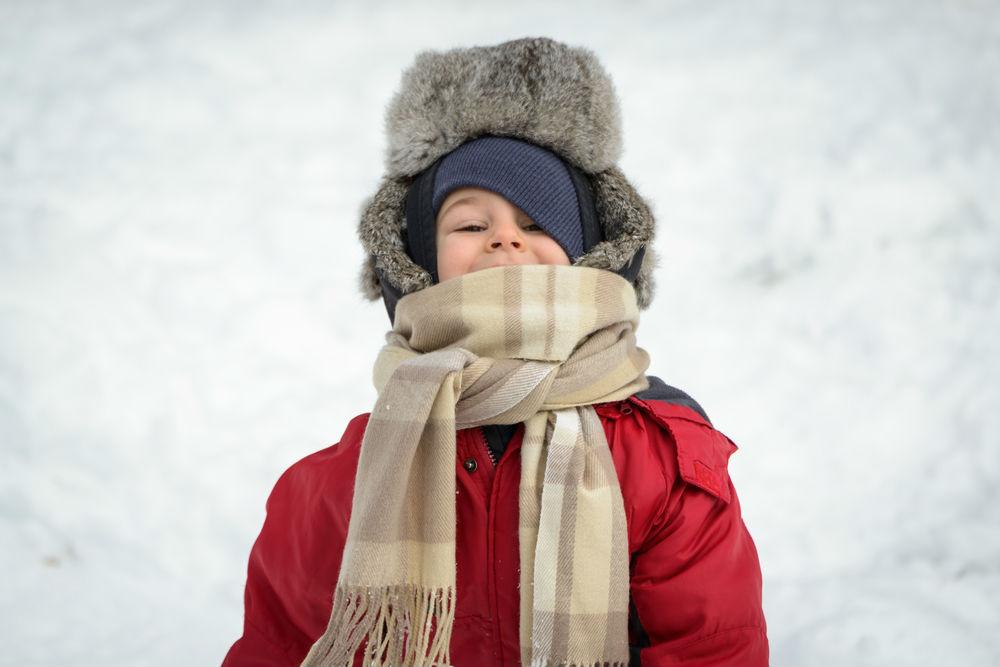Body - boy playing in snow
