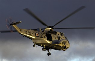 Sea King helicopters transport Army Commandos during Exercise Swift Rotor