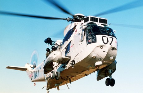 A Royal Australian Navy Sea King helicopter