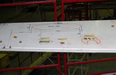 During heavy maintenance, inspection of the LH elevator was carried out in accordance with EASA AD 2014-0014/SB A320-55-1046. Inspection found delamination due water ingress at four places. Defects evaluated found to be out of repair limits and a replacement elevator is being sourced. P/No: D5528000302400.