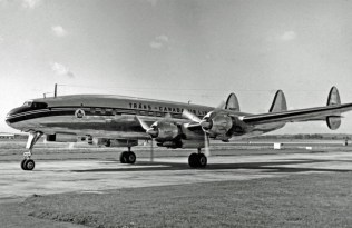 Lockheed L1049C Super Constellation of Trans-Canada Airlines arriving at London Heathrow North image: RuthAS | CC BY 3.0