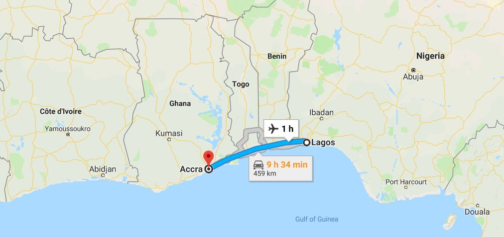 Cheap Flights from Lagos to Accra booking