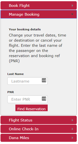 How can I reschedule my Dana flight?