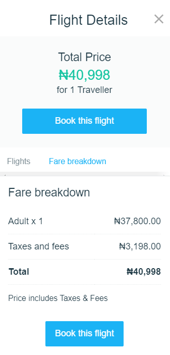 How much are return flights from Lagos to Port Harcourt?