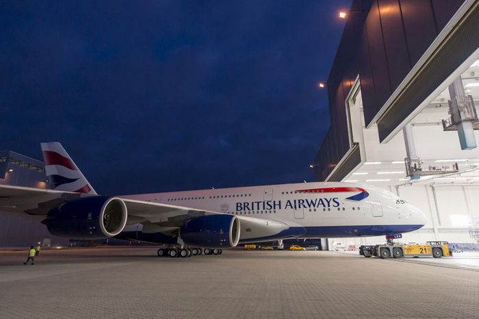 First British Airways Airbus A380