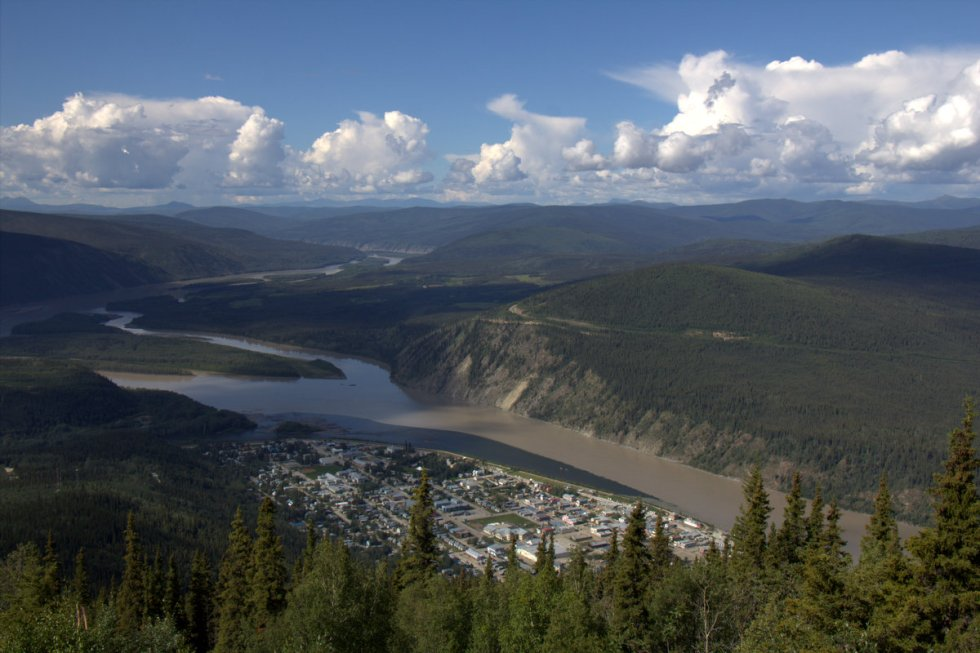 Viewpoint above Dawson City